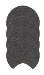 Zone Denmark Glasbrikker - Moon - Filt - Mørkegrå - D 10,0cm - H 0,8cm - Sleeve - 4 - Stk.