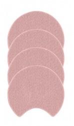 Zone Denmark Glasbrikker - Moon - Filt - Rosa - D 10,0cm - H 0,8cm - Sleeve - 4 - Stk.
