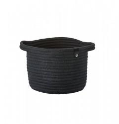 Zone Denmark Kurv - Black - Stk. - Roll - 100% bomuld - D 18,0cm - H 14,0cm - Hangtag