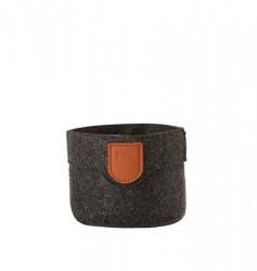 Zone Denmark Kurv - Dark Grey - Stk. - Craft - Filt - PU - D 10,0cm - H 8,0cm - Hangtag