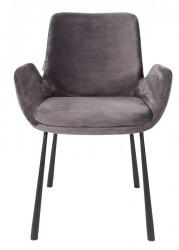 Zuiver - Brit Spisebordsstol m/armlæn - Mørk grå