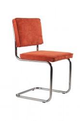 Zuiver - Ridge Spisebordsstol - Orange fløjl
