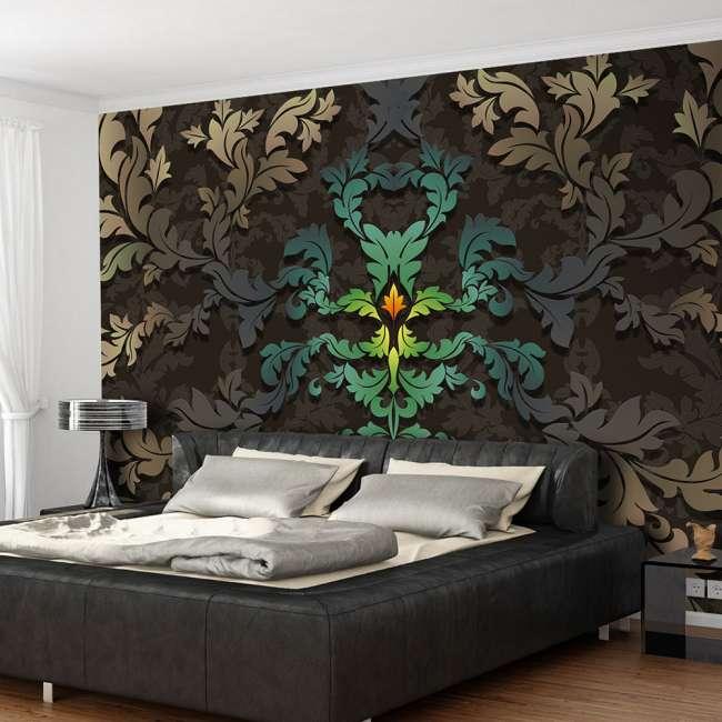 Priser på ARTGEIST Fototapet - Dancing leaves, dansende blade (flere størrelser) 400x280