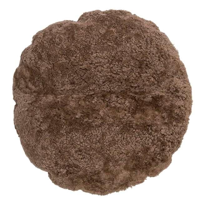Priser på BLOOMINGVILLE gulvpude - brun fåreskind, rund (Ø70)