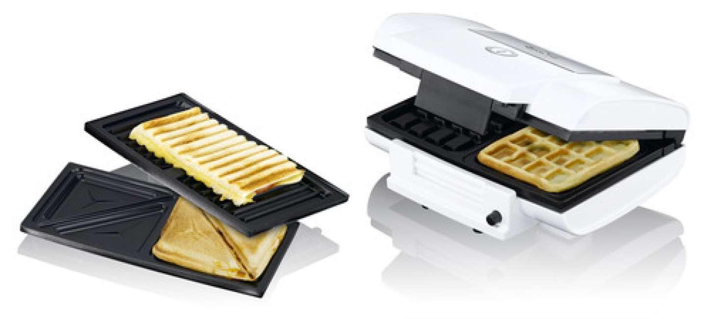 Priser på Exido 3 in 1 toaster og vaffel jern