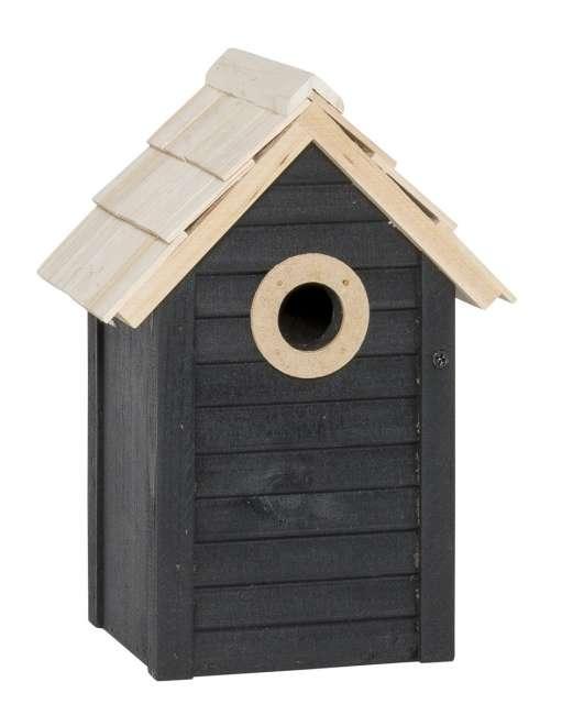 Priser på Ib laursen fuglehus sort m/naturtag hul Ø:30 mm