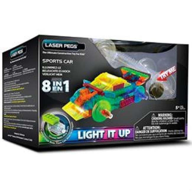 Priser på Laser Pegs byggesæt - Sportsvogn 8-i-1