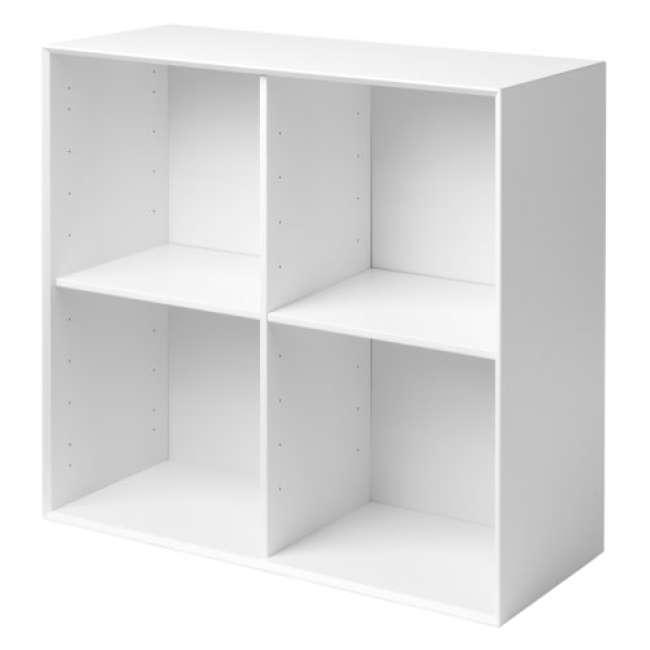 Priser på Living&more reol - The Box - 71,2 x 76,4 x 34,0 cm - Hvid