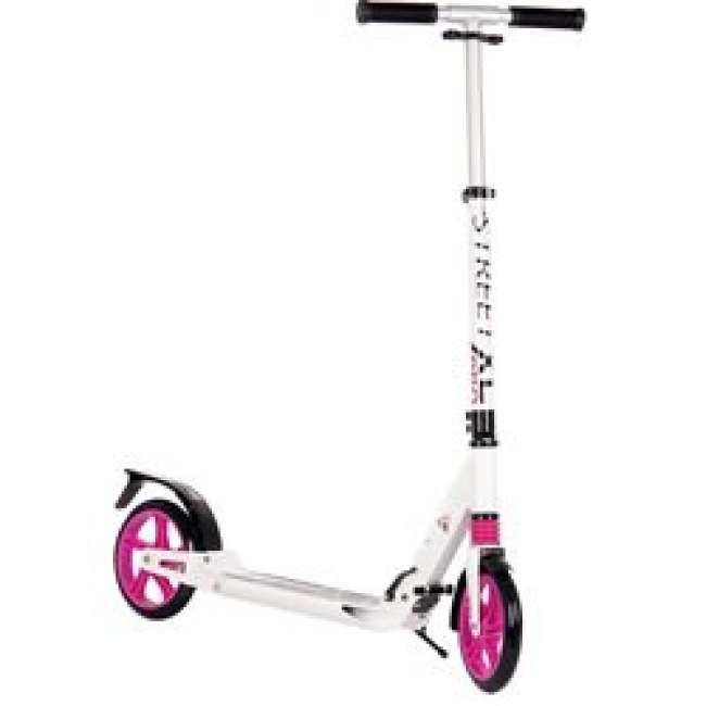 Priser på MCU-sport Street XL Pro 205mm Løbehjul m/støddæmpning, Pink