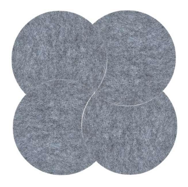 Priser på Zone Denmark Bordskåner - Grey - 4 stk. - Sæt - Moon - Filt - D 18,0cm - H 0,8cm - Sleeve