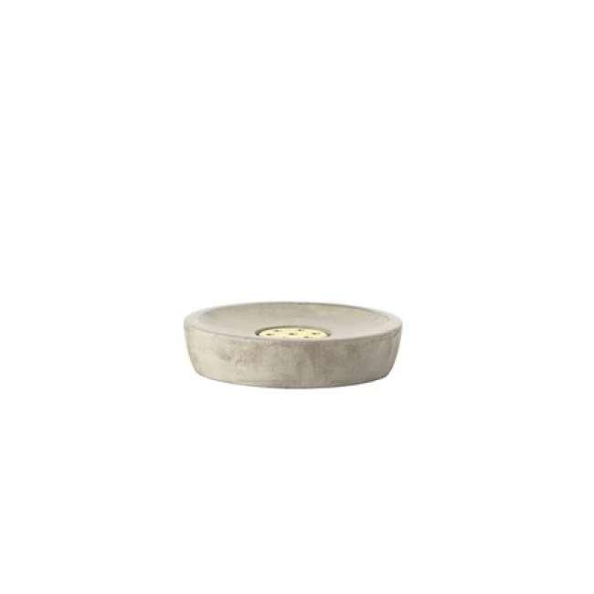 Priser på Zone Denmark Sæbeskål - Grey - Messing - Stk. - Saxo - Beton/Polyresin - Mat - D 10,5cm - H 2,5cm - Gaveæske